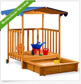 Sandkasten mit Veranda billig bei ebay