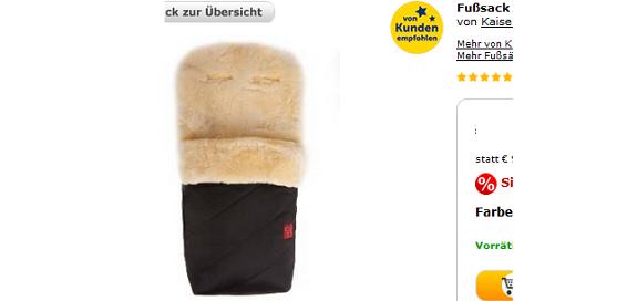 Fußsack für Kinder + warme Beine im Winter