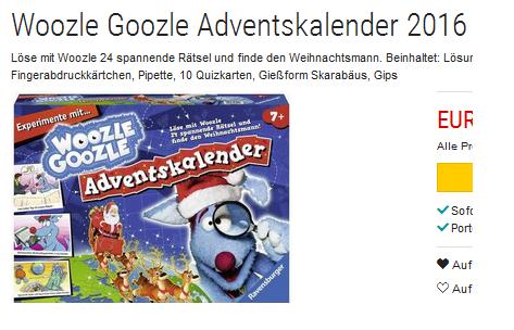 Woozle Goozle: Adventskalender jetzt günstig & reduziert bei ...