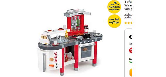 Spielkuche von smoby reduzierte geschenkidee tefal for Spielküche smoby