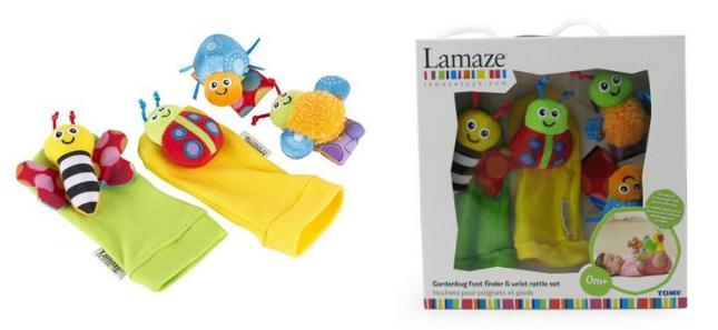 Handgelenkrassel & Füßefinder von Lamaze billig