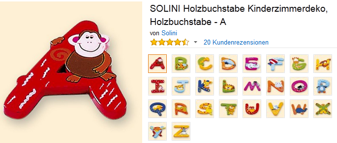 Holzbuchstaben Furs Kinderzimmer Von Solini Sparzwerge De