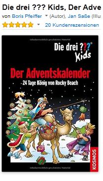 Die drei Fragezeichen Kids Adventskalender 2015