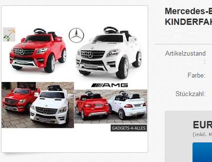 Kinderfahrzeug & Elektroauto Mercedes-Benz ML350