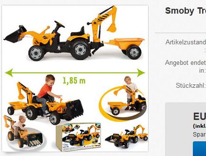 Smoby Trettraktor Spielzeug reduziert