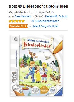 tiptoi Buch; Kinderlieder