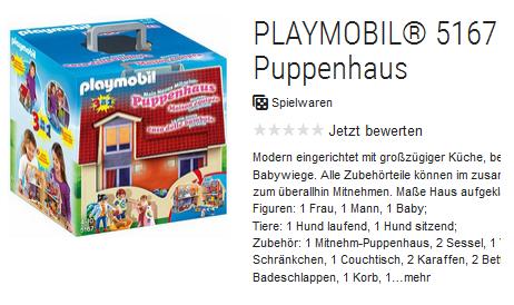 Mein Neues Mitnehm-Puppenhaus 5167 von playmobil