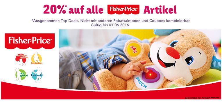 Rabatt auf Fisher Price bei toysrus