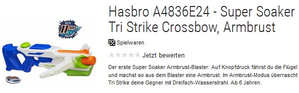 Super Soaker Tri Strike Crossbow reduziert bestellen