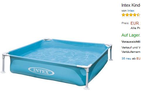 Intex Kinderpool Frame Pool Mini Planschen für Kleinkinder