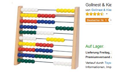 Abacus, Rechnenmaschine, Zählrahmen, Zählschieber von Gollnest & Kiesel
