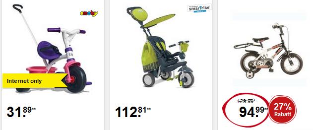 Kinderfahrräder bei Intertoys