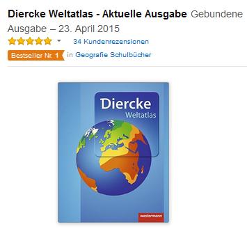 Weltatlas von Diercke, versandkostenfreier Bestseller