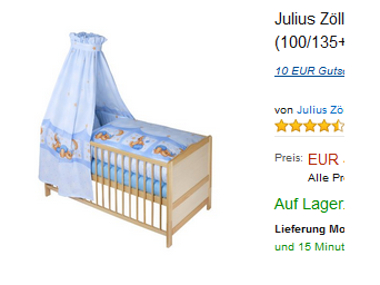 baby bettset kuschelb r von julius z llner 49 98 schn ppchen produktproben f r kind baby. Black Bedroom Furniture Sets. Home Design Ideas