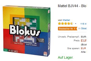 Blokus Familienspiel reduziert