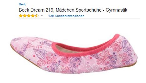 Dream 219 von Beck gute, günstige Ballettschläppchen & Hausschuhe