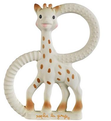 Giraffe Sophie extraweicher Kautschuk-Beissring für Babys