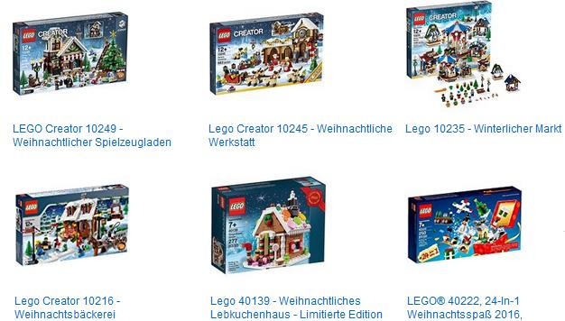 Weihnachtssets von LEGO