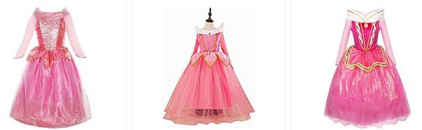 Dornröschen-Mädchenkleider und Kostüme sehr günstig bestellen