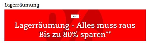 Lagerräumung bei thalia.de, Screenshot