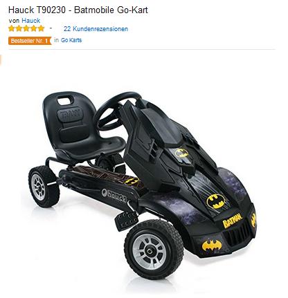 batmobil batman tretauto f r kinder von hauck 129 03 euro. Black Bedroom Furniture Sets. Home Design Ideas