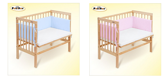 babybett zum beistellen von fabimax schn ppchen produktproben f r kind baby. Black Bedroom Furniture Sets. Home Design Ideas