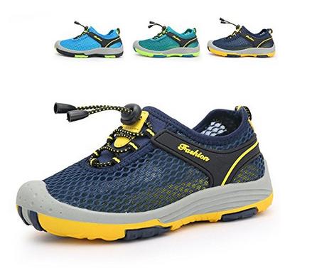 leichte Schuhe, geschlossene Sandalen mit Netzstoff
