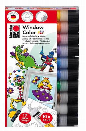 window color von marabu kreativfarben mit 10 farben schn ppchen produktproben f r kind baby. Black Bedroom Furniture Sets. Home Design Ideas