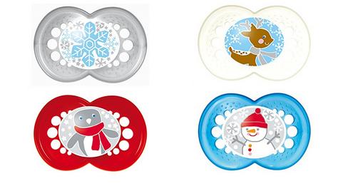 winter weihnachten schnuller von mam babyartikel 2 st ck. Black Bedroom Furniture Sets. Home Design Ideas