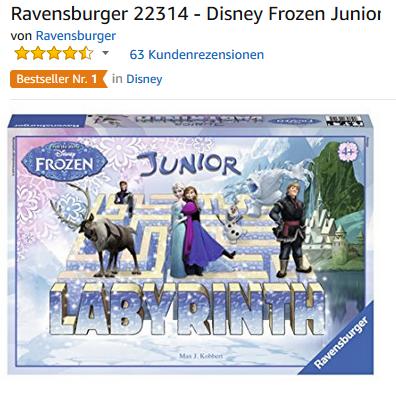 Die Eisköning das verrückte Labyrinth Junior