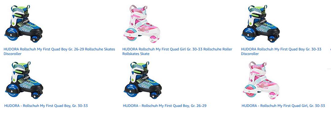 Hudora Rollschuhe für Mädchen und Jungen My First Quad