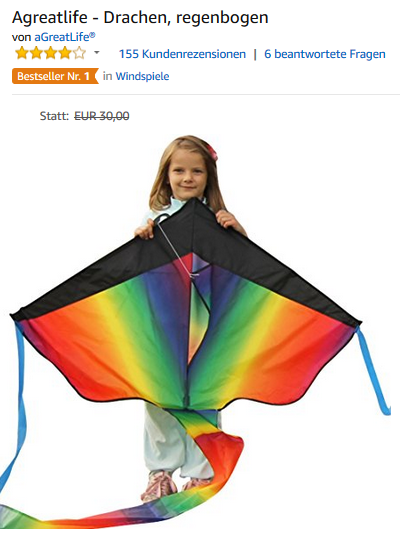 Regenbogen-Winddrachen & Luftdrachen