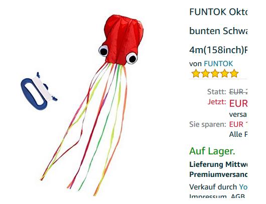 Oktopus Winddrache billig bei Amazon