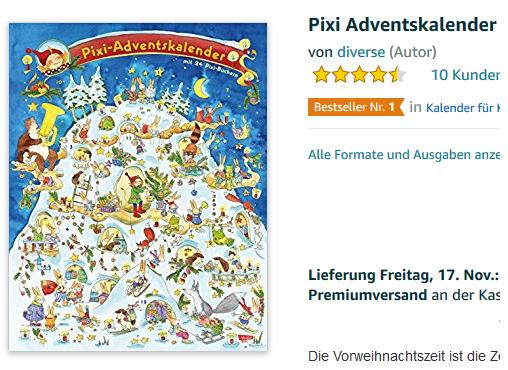 Pixi Adventskalender aktuell
