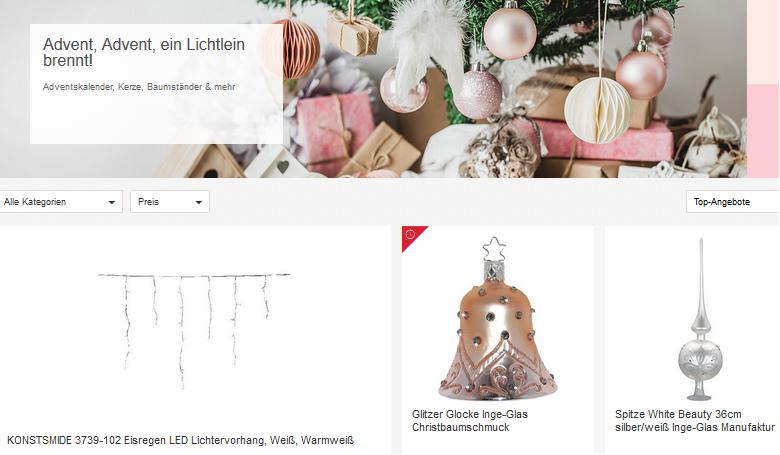 Weihnachtsdeko bei ebay schn ppchen produktproben f r - Ebay weihnachtsdeko ...