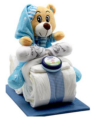 Windeltorte als Teddybär-Motorrad