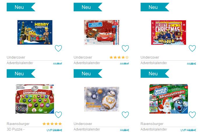 die günstigsten Adventskalender für Kinder bei babymarkt.de
