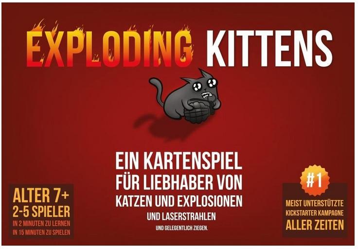 Exploding Kittens Katzen-Kartenspiel mit Preisvergleich