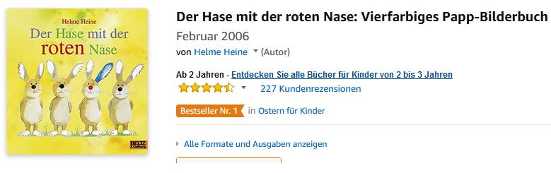 Der hase mit roten nase billiges kinderbuch bestellen