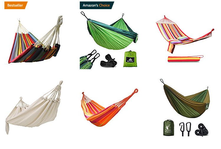 Hängematten bei Amazon