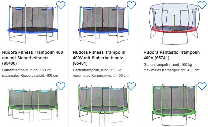 Hudora Trampolin billig durch Preisvergleich