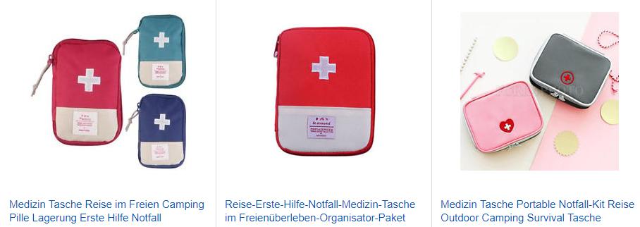 Medizin Tasche Notfall