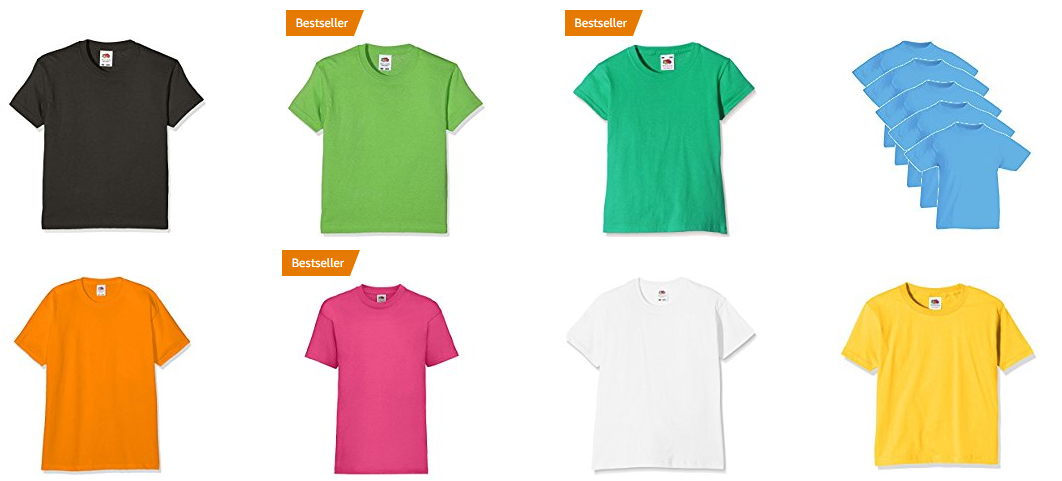 fruit of the loom kinder t shirts