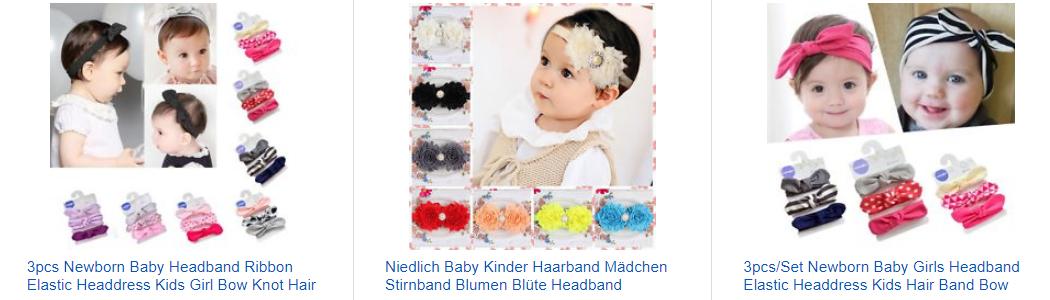 Kopfbänder & Stirnbänder für Babys