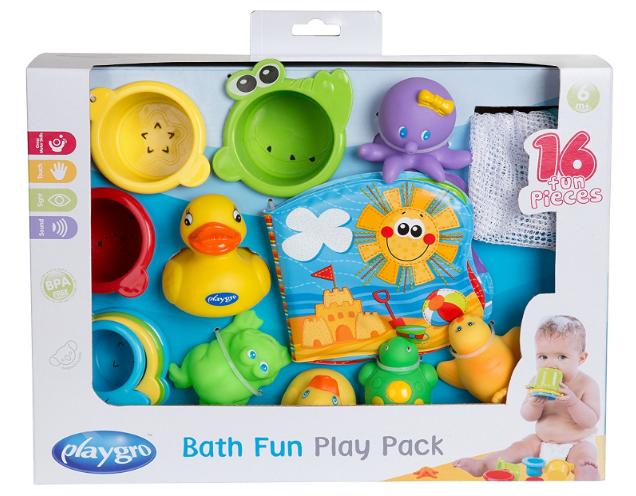 Playgro Wasserspielzeug & Sandelsachen + Bath Fun Play Pack