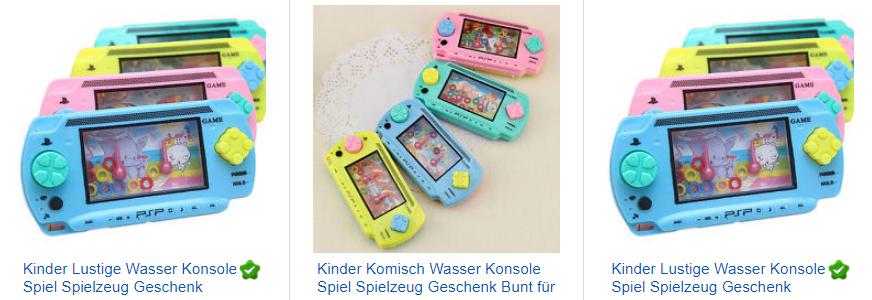 Wasserspiel für Kinder in handlicher Konsole nur 1 Euro mit Versand