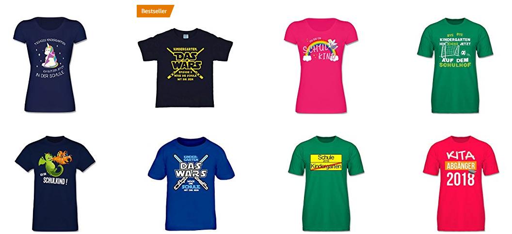 Einschulungs-Shirts für Kinder