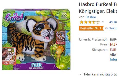 Hasbro FurReal Friends B9071100 - Tyler der Königstiger