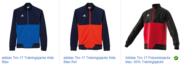 adidas Tiro 17 Trainingsjacke
