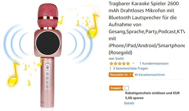 tragbarer Karaoke Spieler 2600 von Switti